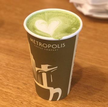 Hot Matcha Latte (Metropolis, Chicago)